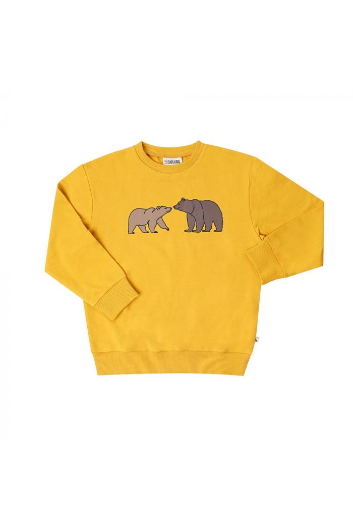 CarlijnQ Sweater (yellow) With Print Grizzly_1