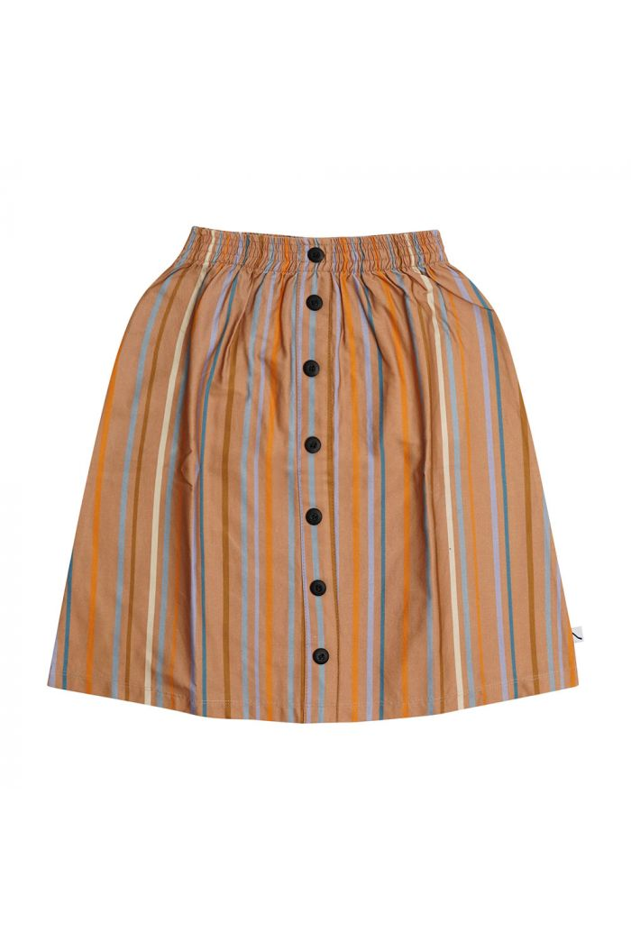 CarlijnQ Longskirt With Buttons Multi-color stripes_1