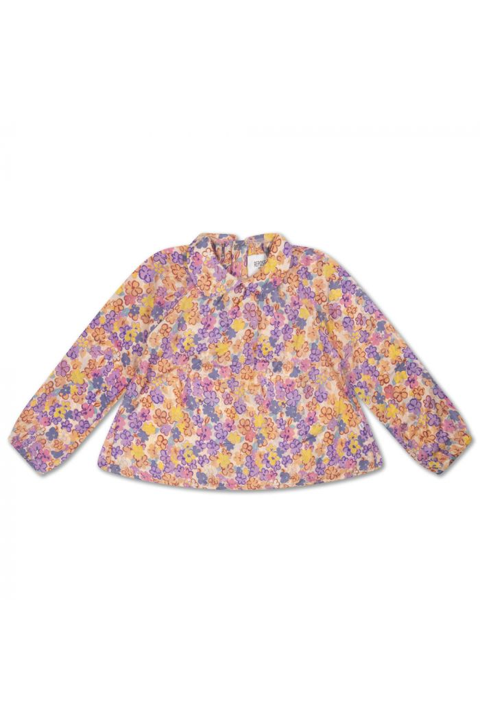 Repose AMS Round Collar Blouse Scribble Flower