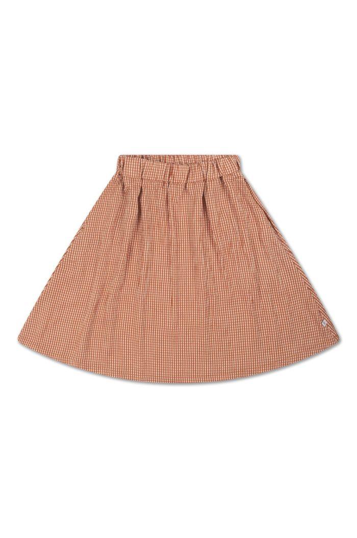 Repose AMS Midi Skirt Copper Check_1