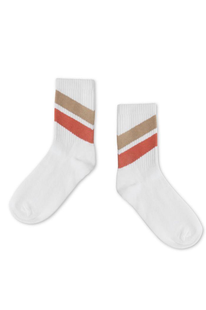 Repose AMS Socks White Red Diagonal_1