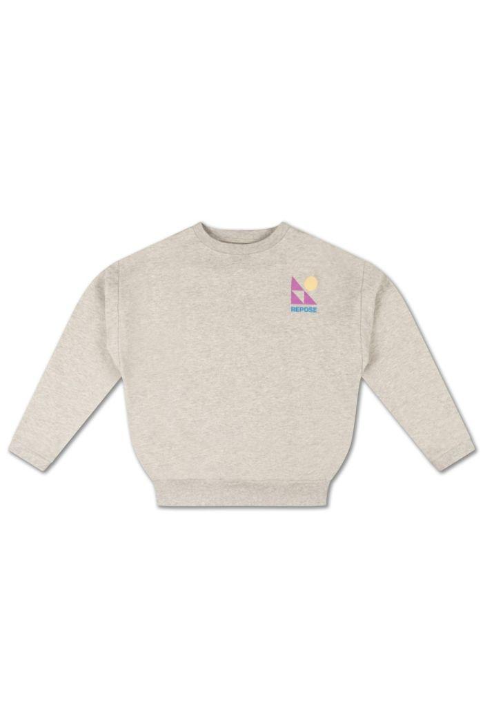 Repose AMS Crewneck Sweater Light Mixed Grey_1