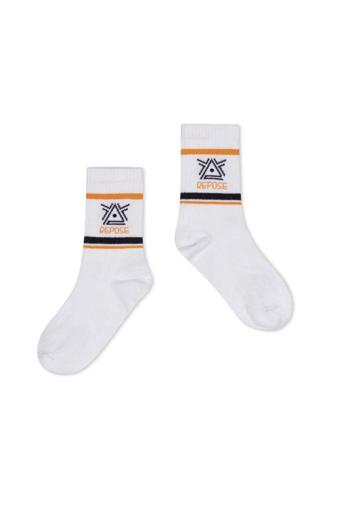 Repose AMS Sporty Socks Crisp White Logo_1