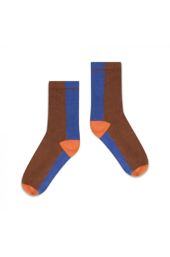 Repose AMS Sporty Socks Chocolate Color Block_1