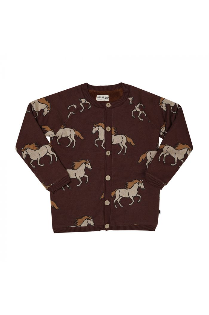 CarlijnQ Knitted Cardigan With Teddy Lining Wild Horse_1