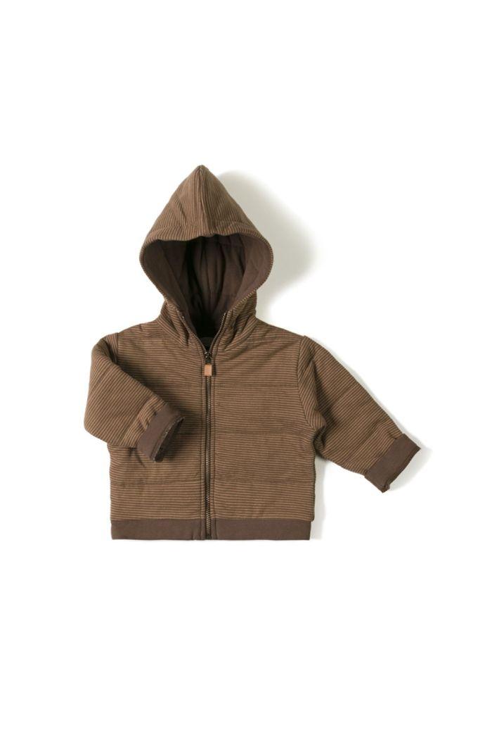 Nixnut Baby Jacket  Toffee Stripe_1