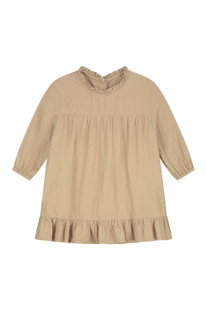 Daily Brat Lois ruffle dress Summer Sand_1