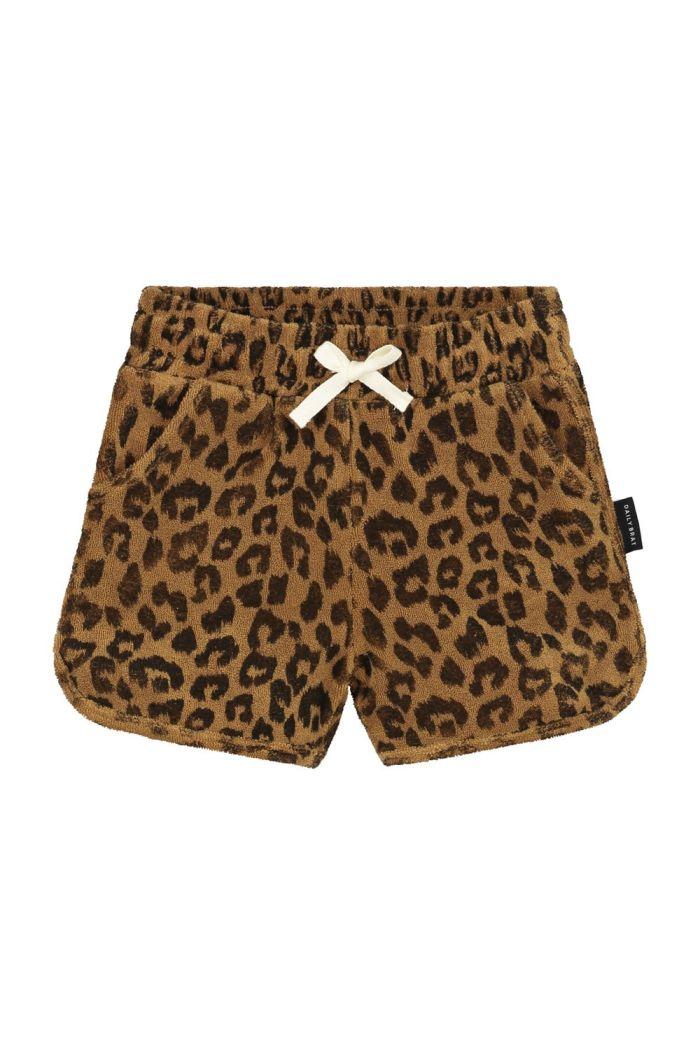 Daily Brat Leopard towel shorts Sandstone_1