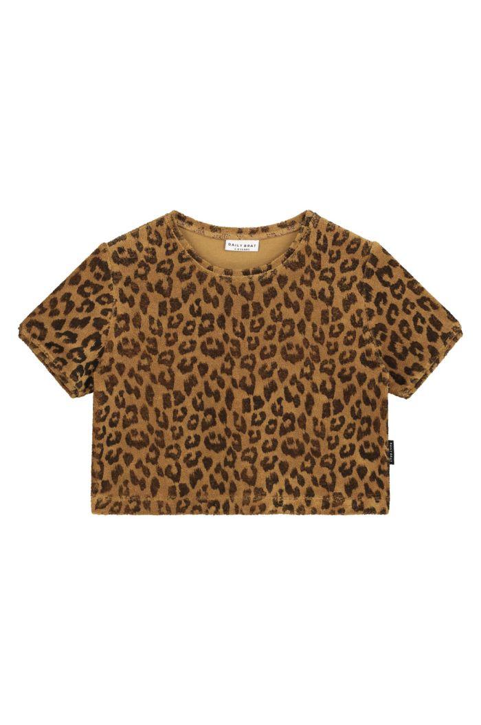 Daily Brat Leopard towel t-shirt Sandstone_1