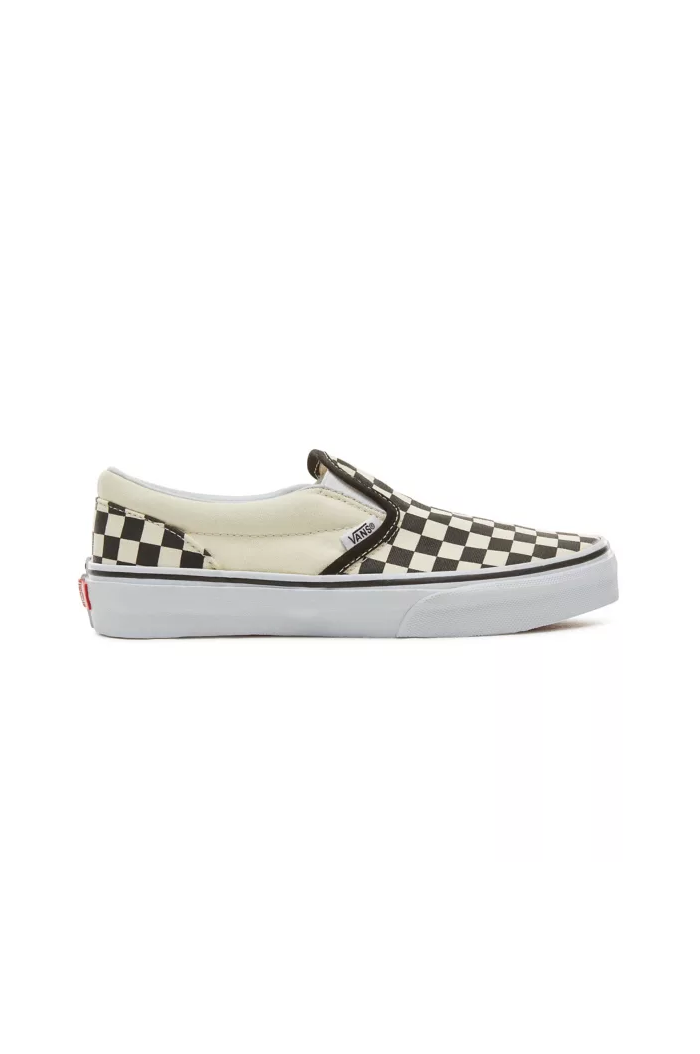Vans Youth Classic Slip-On (Checkerboard) Black/White_1