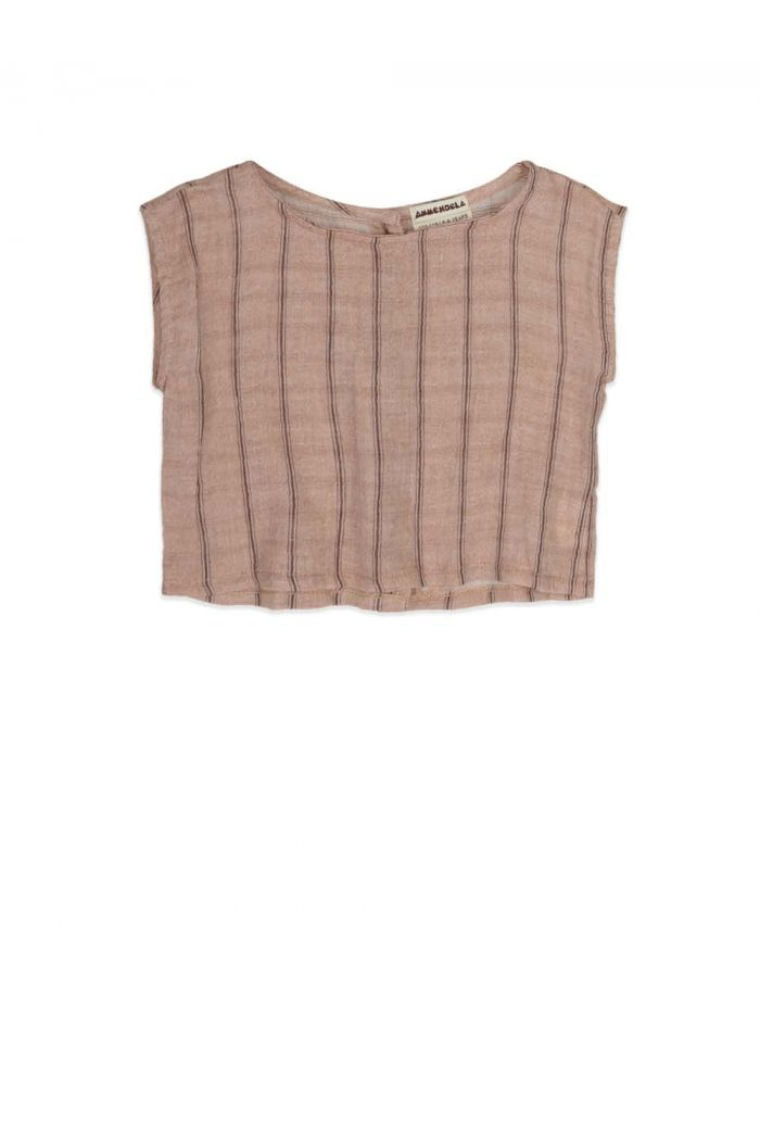 Ammehoela Lilly Sleeveless shirt Sand stripe