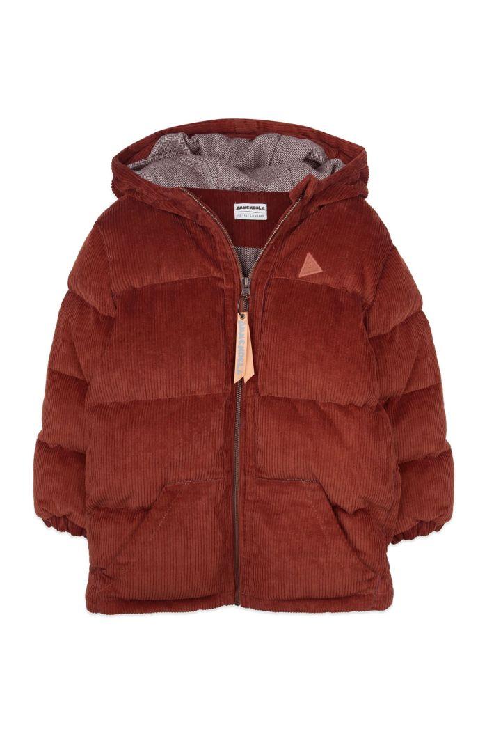 Ammehoela Cordy winterjacket Brick_1