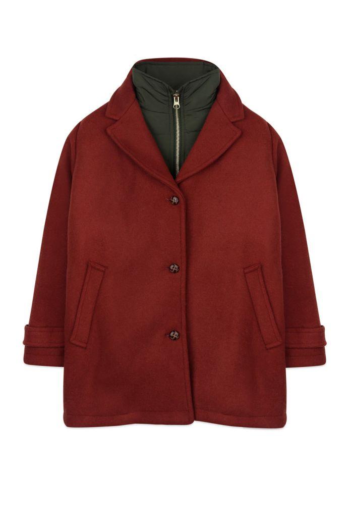 Ammehoela Rain jacket Brick_1