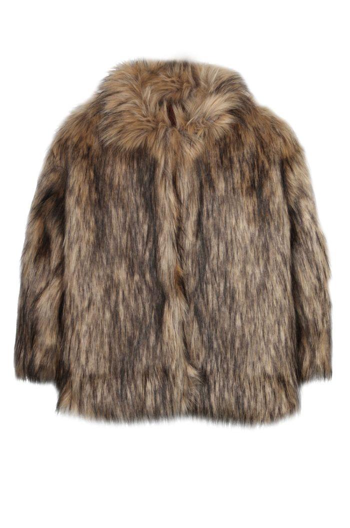 Ammehoela Funk fake fur jacket Brown_1