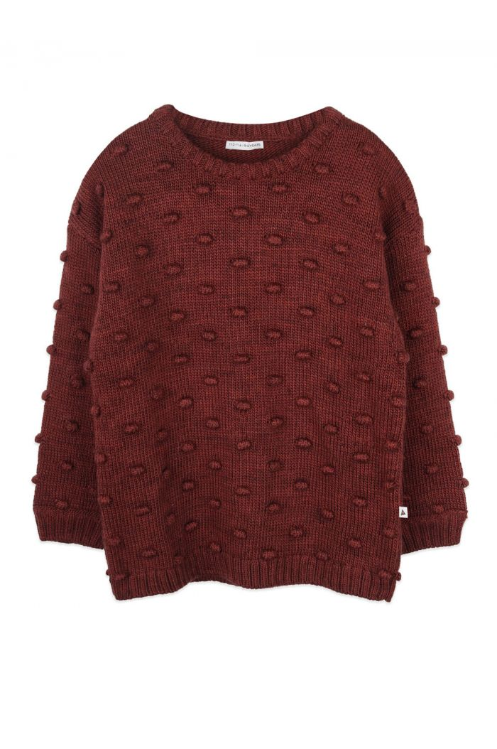 Ammehoela Dottie sweater Brick_1