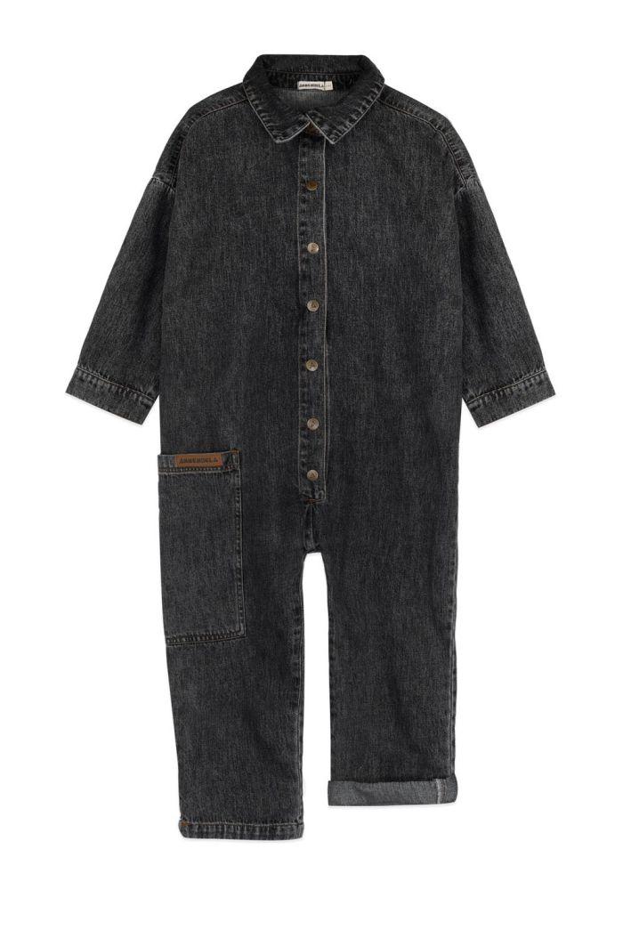 Ammehoela Robyn Jumpsuit Black-Washed_1