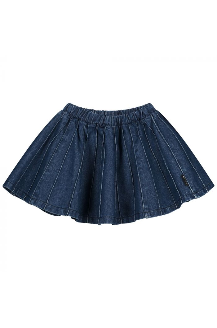 Daily Brat Sally denim plisse skirt Indigo_1
