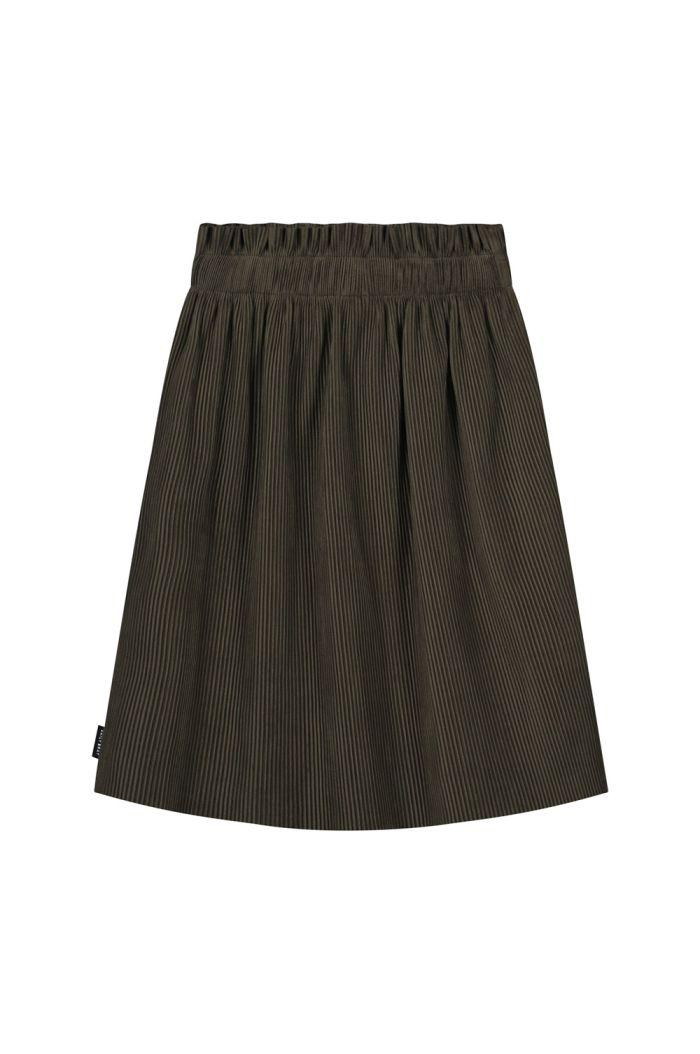 Daily Brat Nova paperbag plisse skirt dark olive_1