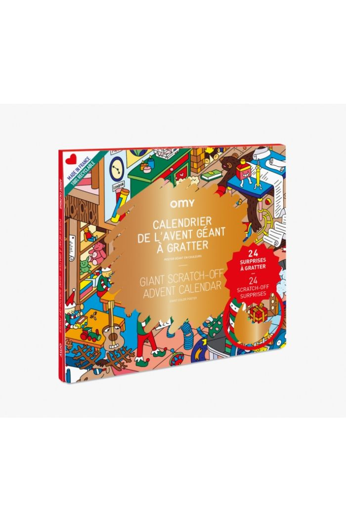 OMY Giant Scratch-off Poster Advent Calender