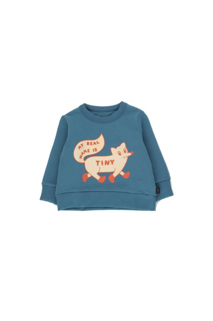 "Tinycottons ""Tiny Fox"" Sweatshirt sea blue/cream_1"