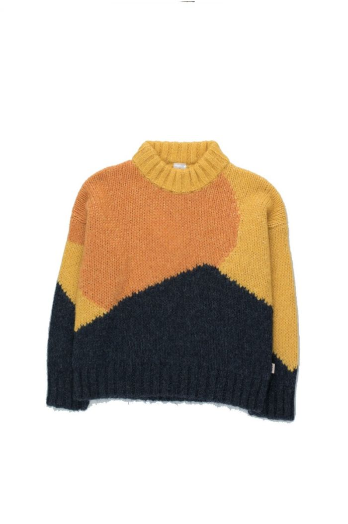"Tinycottons ""Fuji"" Color Block Sweater yellow/navy_1"