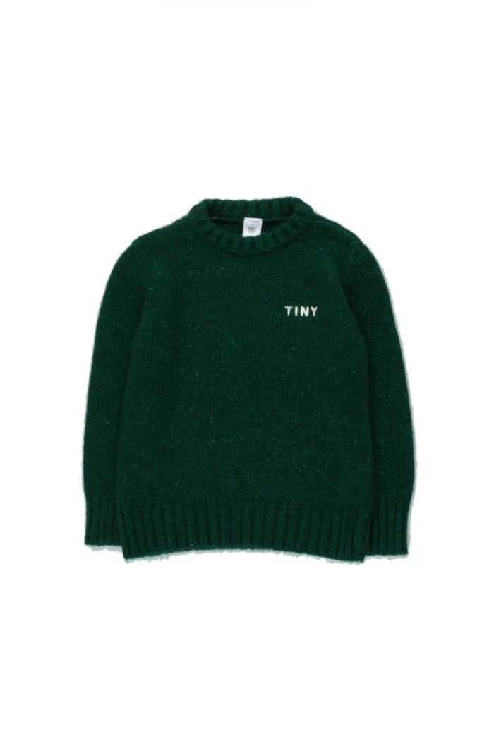 "Tinycottons ""Tiny"" Shiny Sweater Dark Green_1"