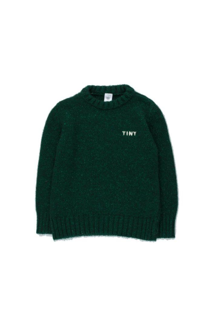 """Tinycottons """"Tiny"""" Shiny Sweater Dark Green_1"""