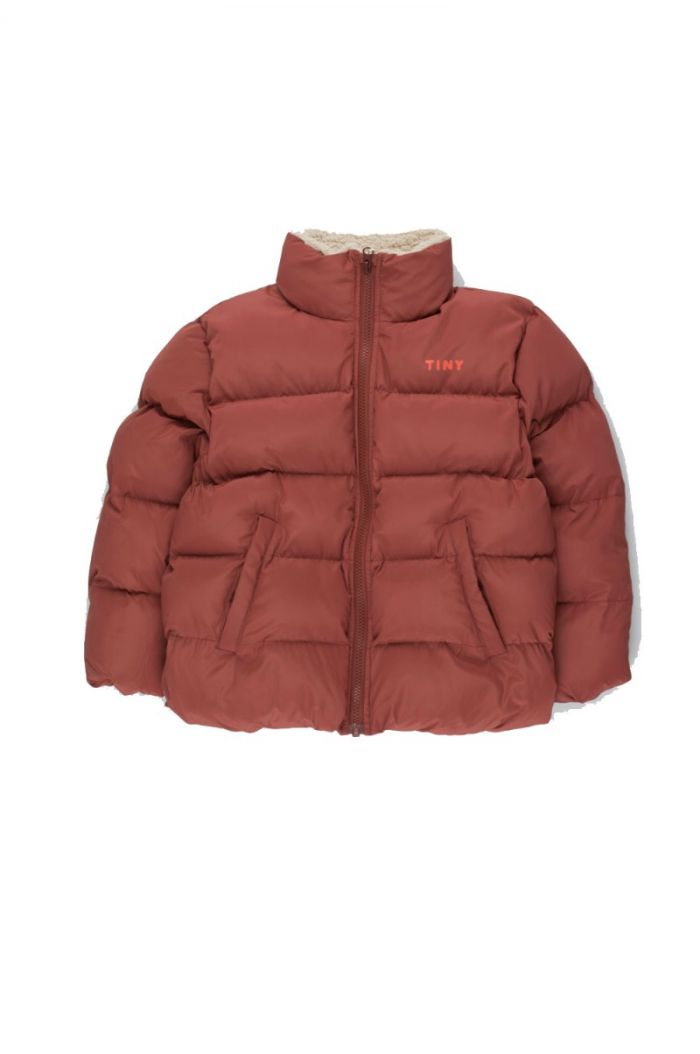 Tinycottons Solid Padded Jacket dark brown_1