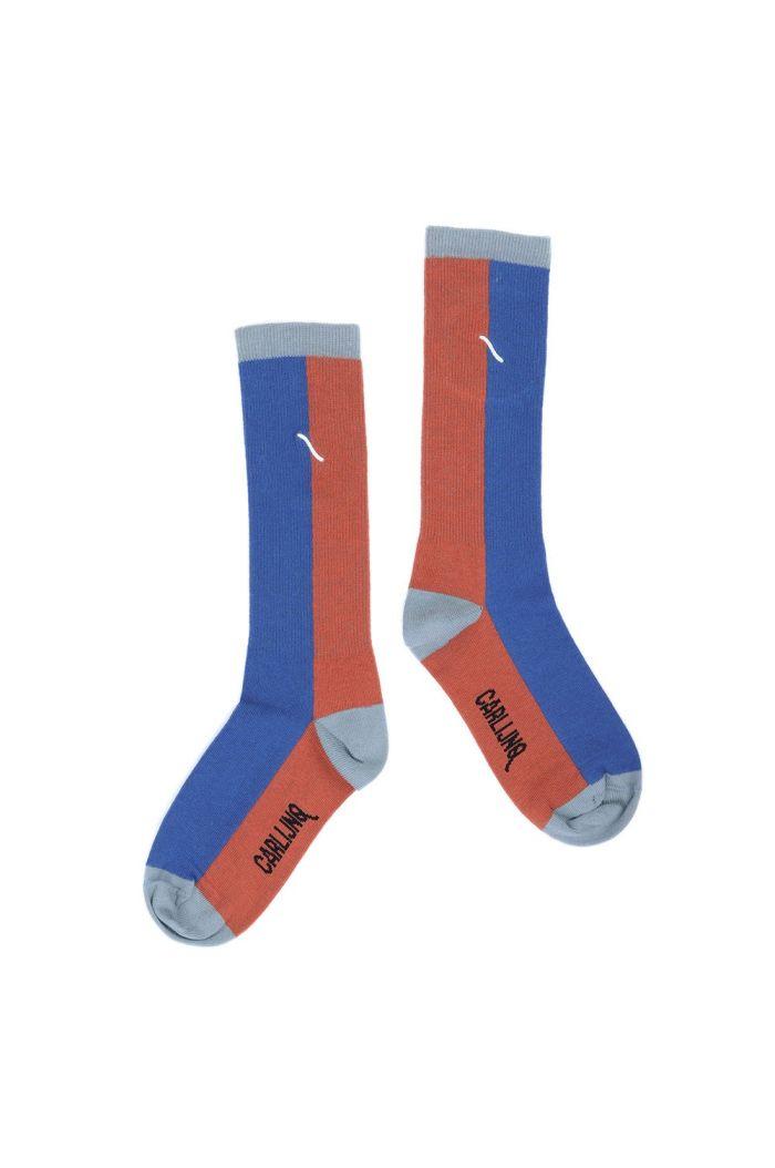 CarlijnQ Knee socks brown / blue