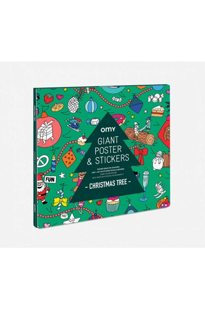 OMY Giant Coloring Poster & Stickers ChristmasTree