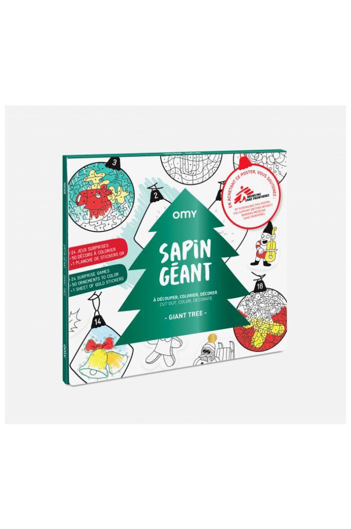 OMY Giant Coloring Poster ChristmasTree