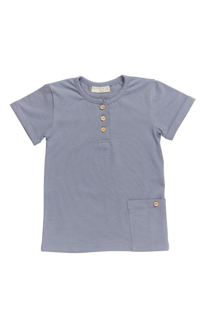 Blossom Kids Short sleeve shirt Blue grey_1