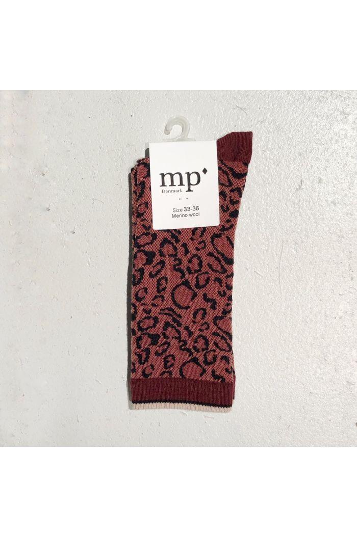 MP Denmark Knee socks Berti 4195 Dark brick_1