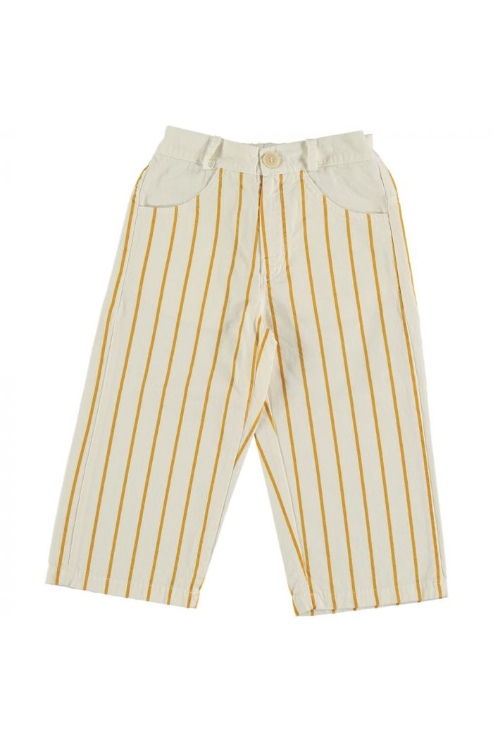 Ankle trouser thin stripes ivory