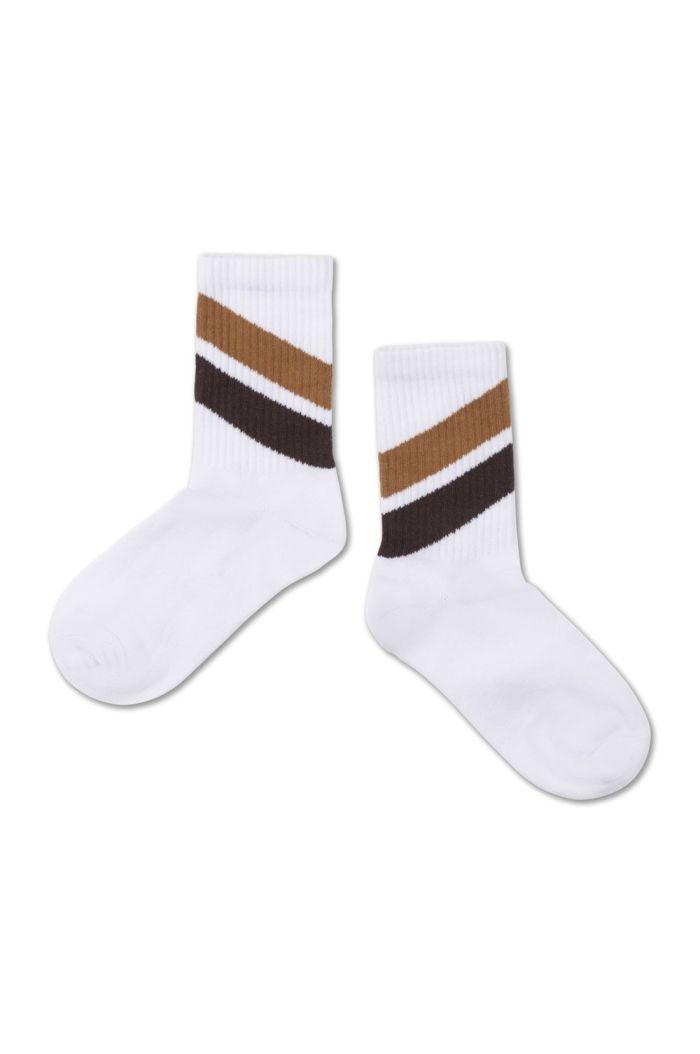 Repose AMS Sporty Socks Diagonal Stripe Grape
