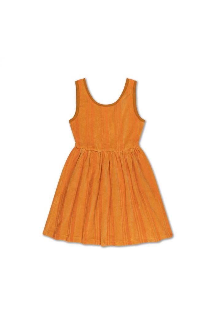 Repose AMS singlet dress yellow golden stripe