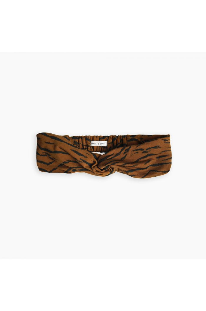 Sproet & Sprout Turban headband Tiger Caramel