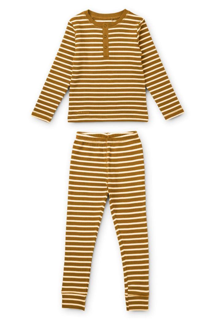 Liewood Wilhelm pyjamas set Y/D Stripe: Golden caramel/sandy