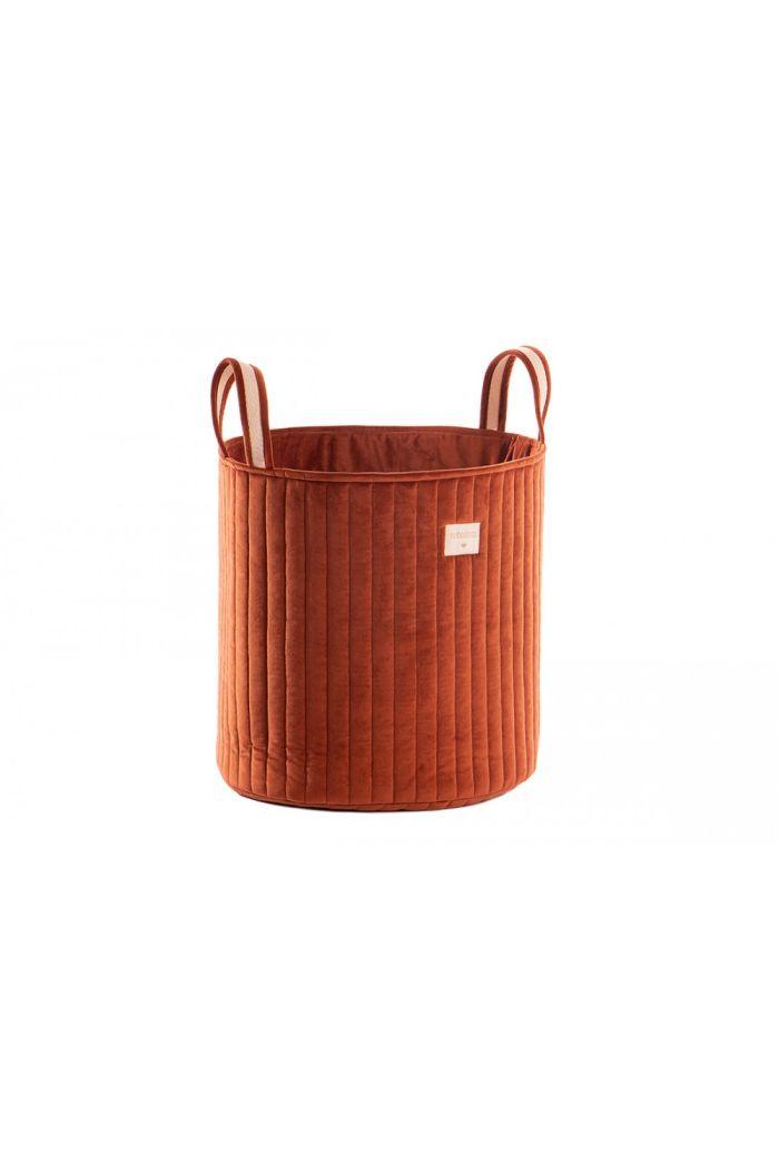 Nobodinoz Savanna Velvet Toy Bag Wild Brown