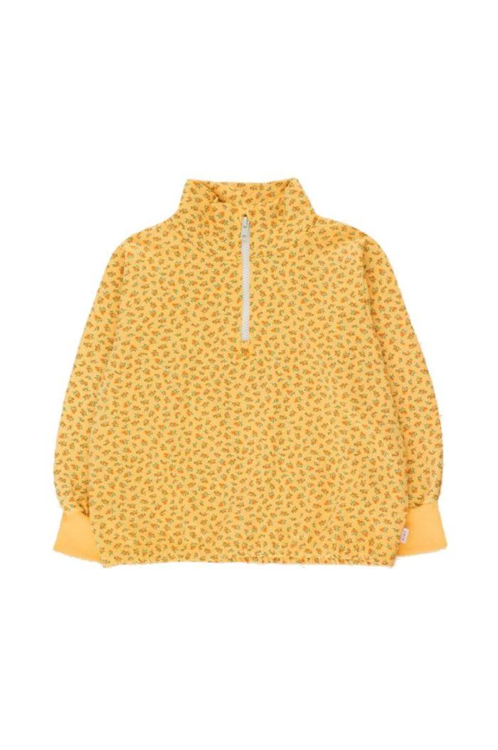 Tinycottons Small Flowers Mockneck Sweatshirt Yellow/Honey_1