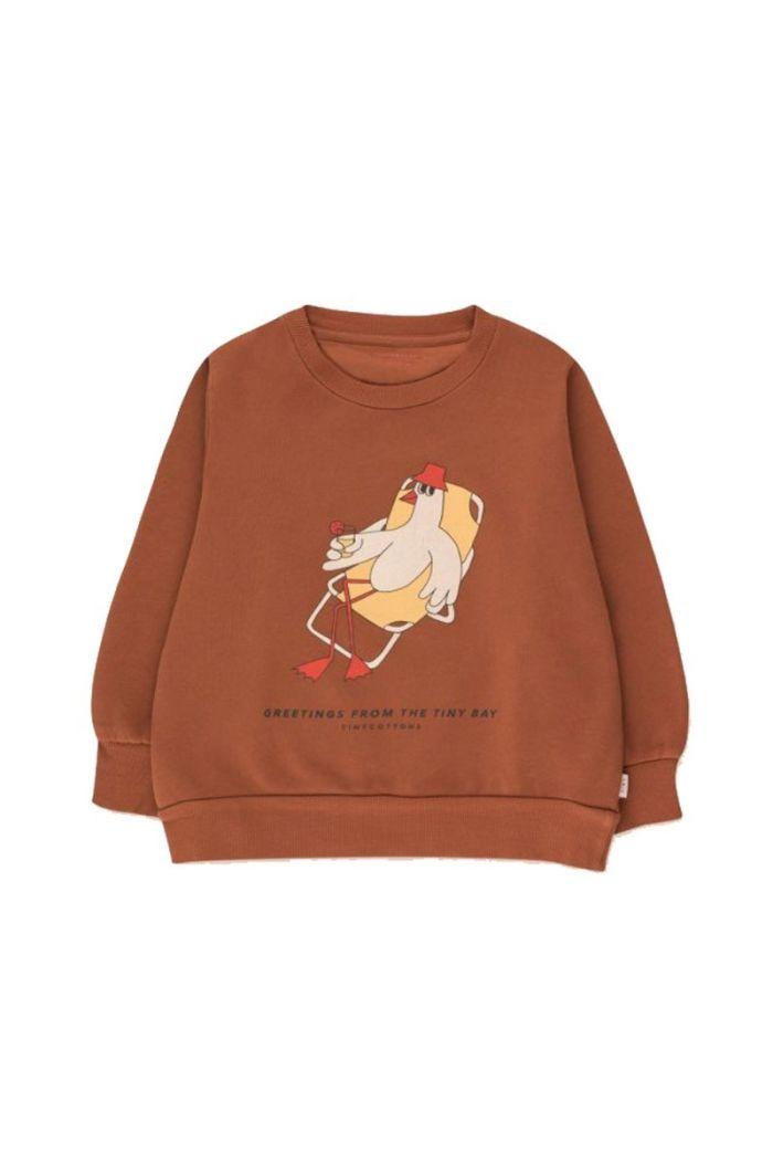Tinycottons Bird Sweatshirt Nut Brown/Yellow_1