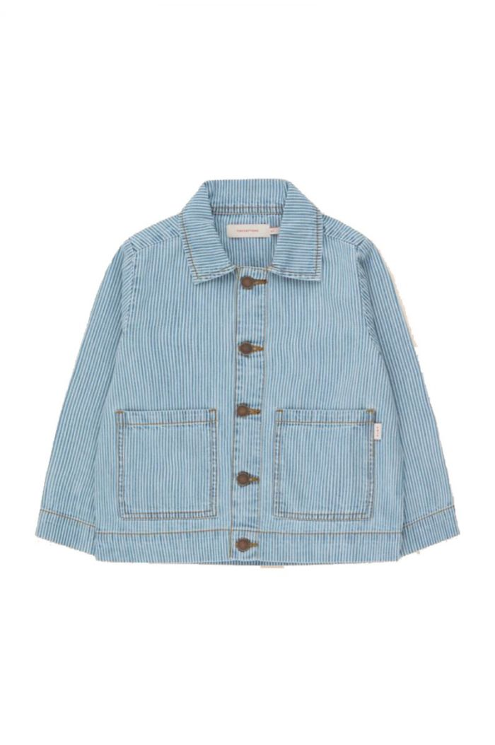 Tinycottons Striped Denim Jacket stripes denim_1