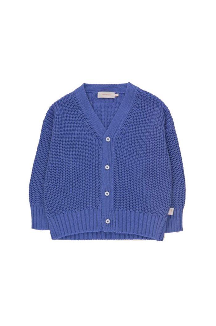 Tinycottons Solid Cardigan Iris Blue_1