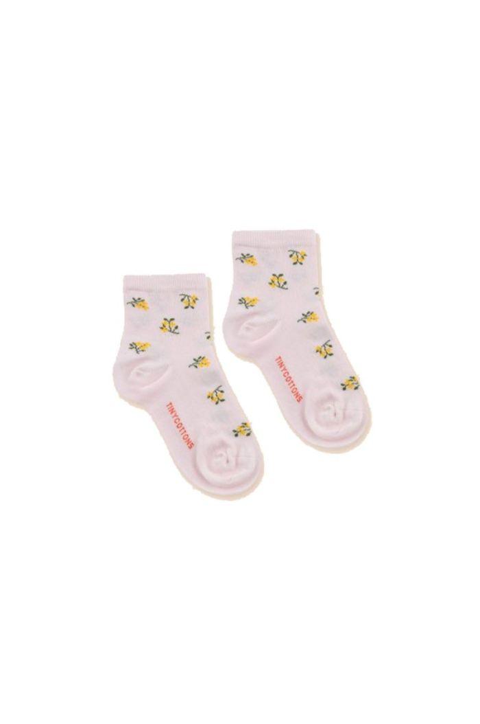 Tinycottons Tiny Flowers Quarter Socks Pastel Pink_1
