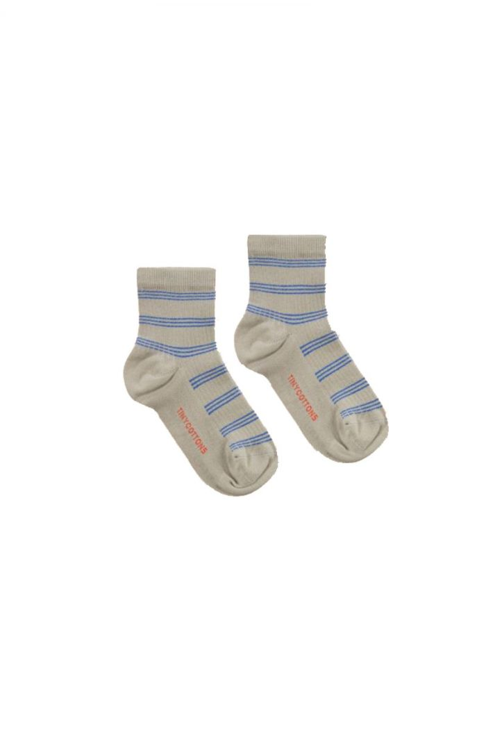 Tinycottons Retro Stripes Quarter Socks Light Olive_1