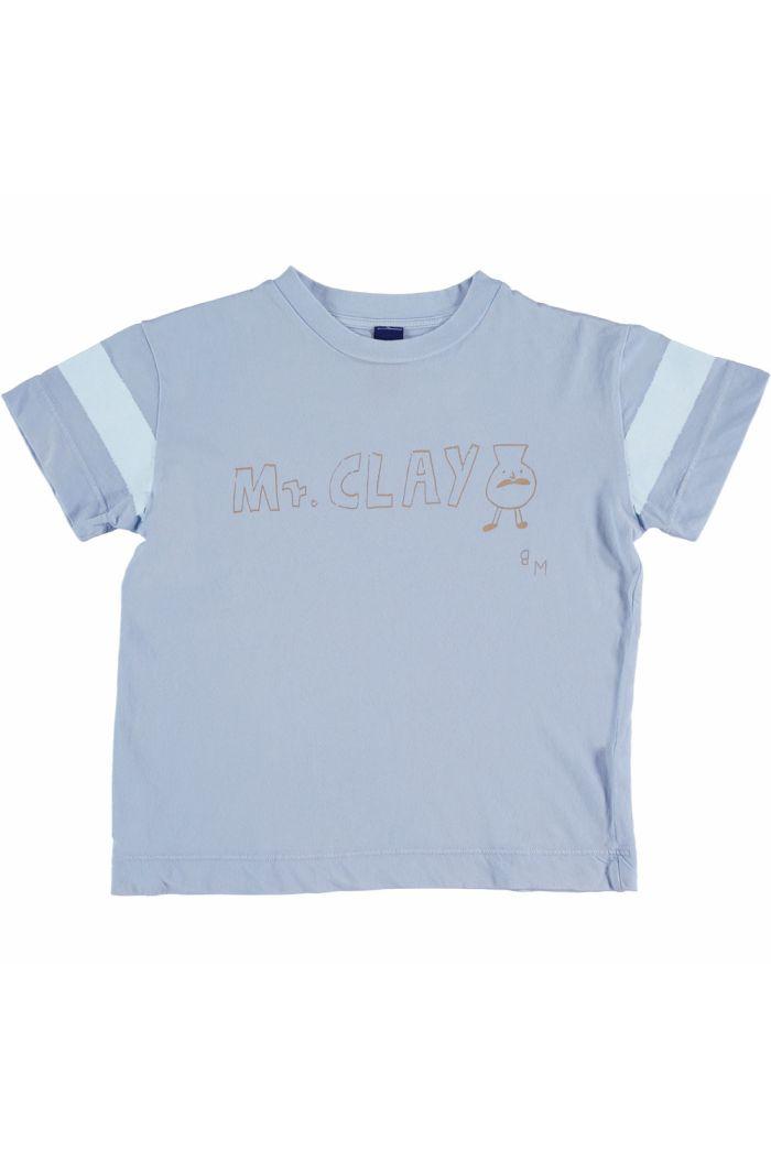t-shirt classic Mr. Clay  light blue