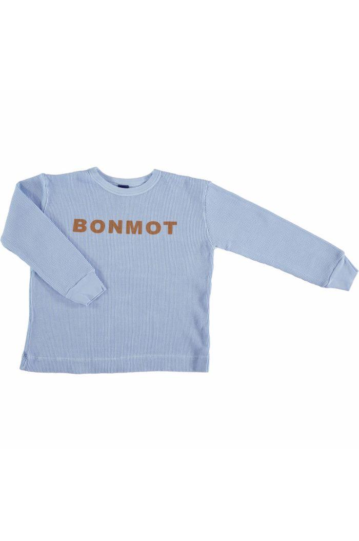t-shirt long sleeve bonmot  light blue