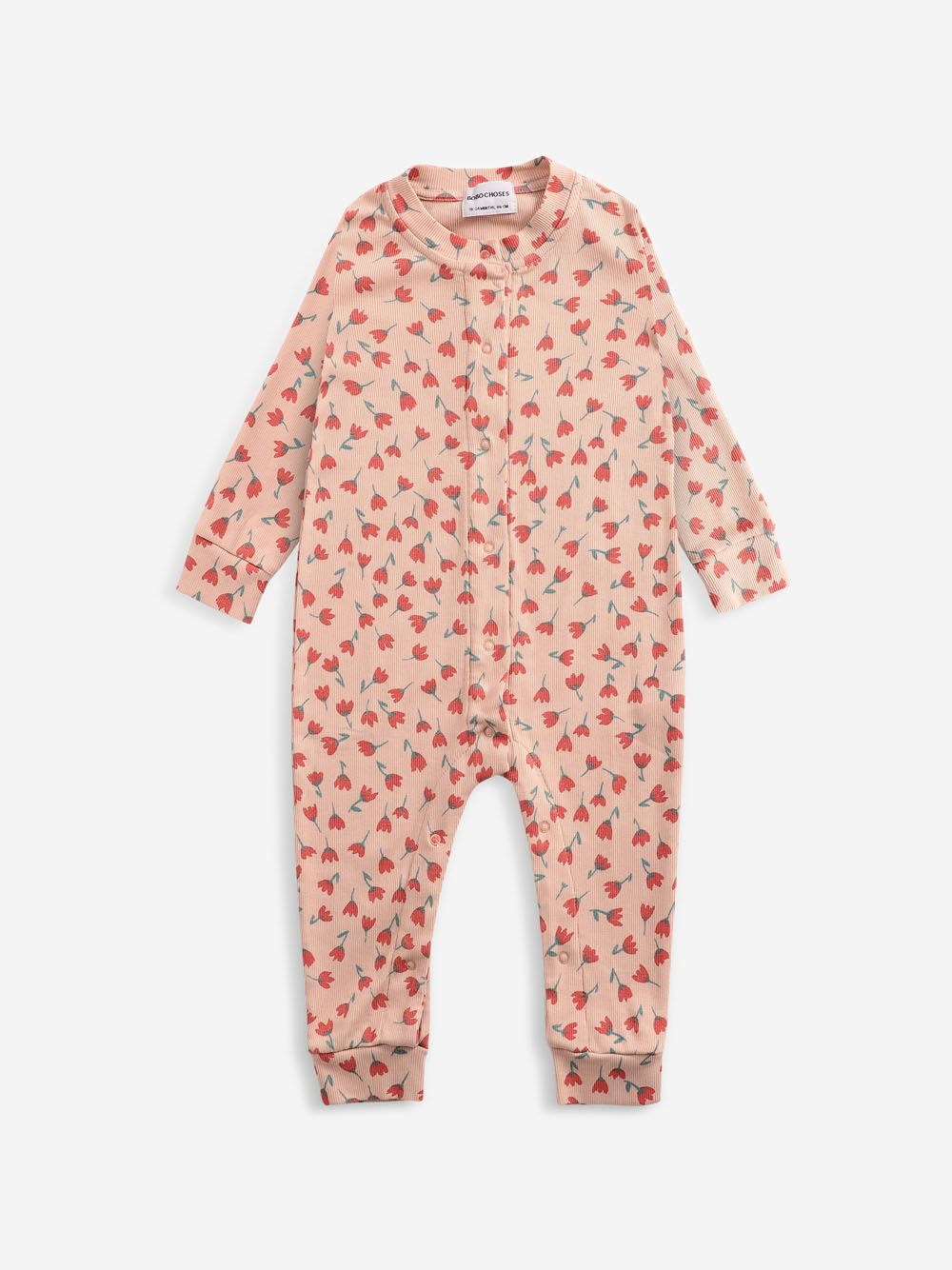 Bobo Choses Flowers All Over overall Rose Cloud
