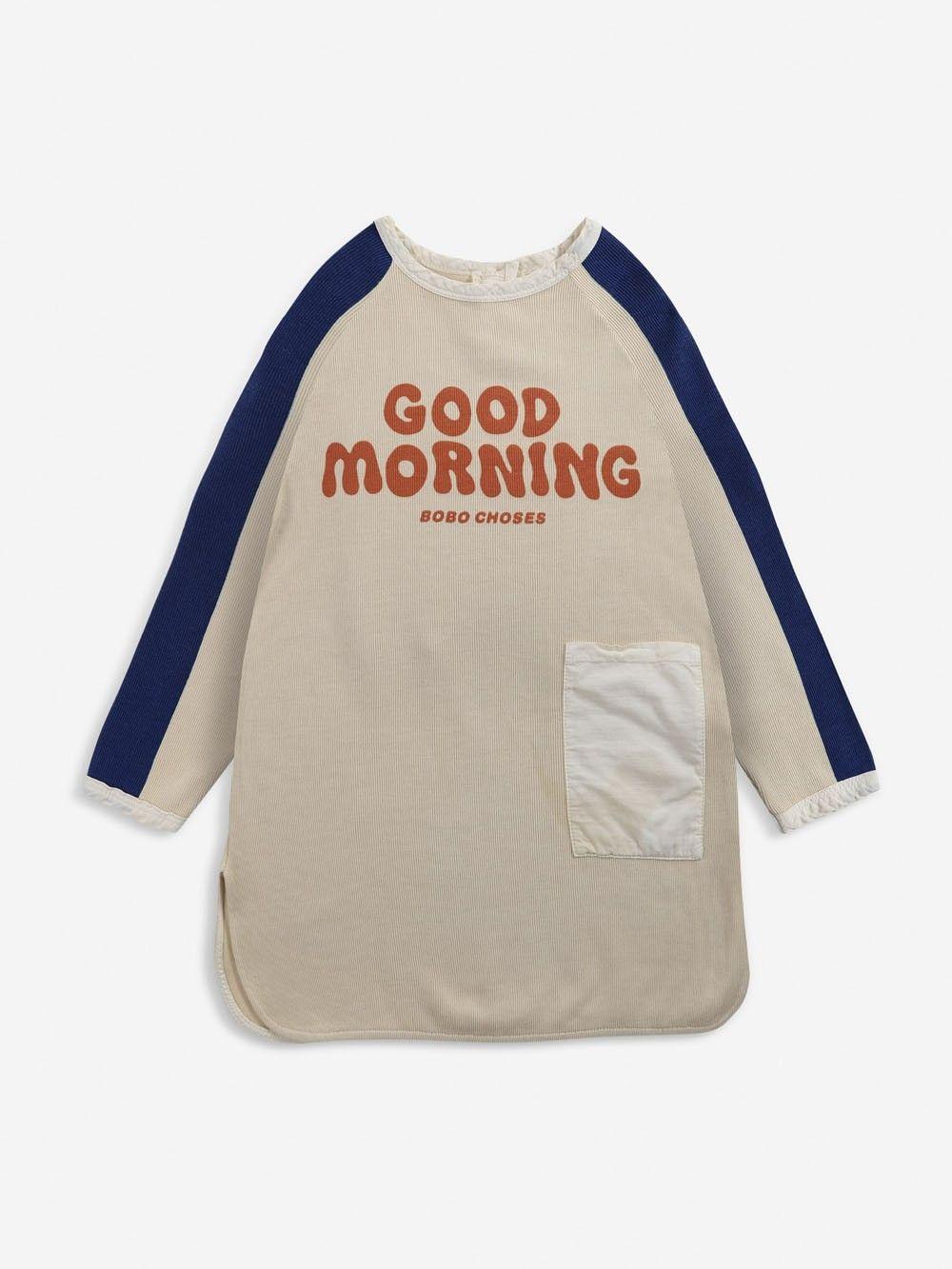 Bobo Choses Good Morning fleece dress Soybean - in Jongens