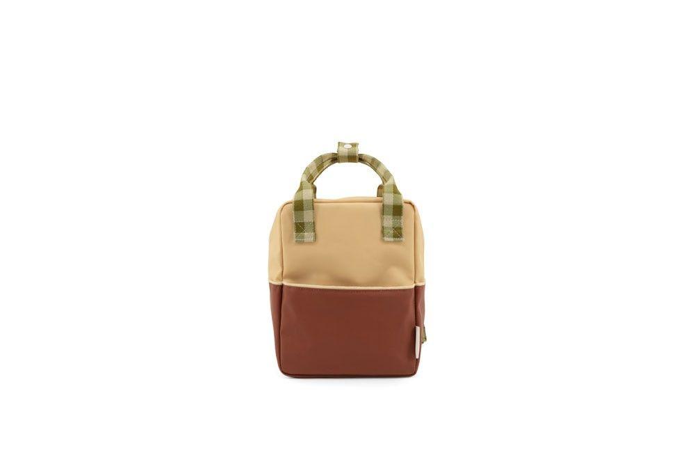 Sticky Lemon Backpack Colourblocking Fig Brown - Apple Tree - Vanilla Sorbet - in Schooltassen